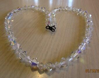 "Vintags Aurora Borealis Bead Necklace 22"" Long"