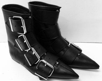 Original Pikes-4 Big Belt Buckle Boots