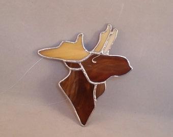 Stained Glass Moose Ornament Suncatcher--Lodge Decor--Cabin Decor