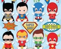 Superhero baby boy clipart, Super baby, Baby boys clipart