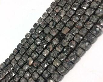 "8""inch eye agat Briolettes gemstone faceted 3D Cube or BOX bead 7mm-8mm"