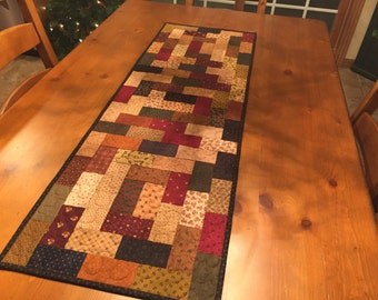 Quilted Table Runner / Primitive Table Runner / Country Quilt  Item #1171