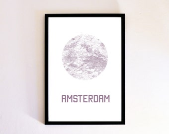 Amsterdam Custom City Map Poster Print