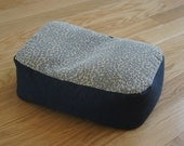 ON SALE :)) Stone Washed Leopard Denim Meditation Cushion with Organic buckwheat hull filling