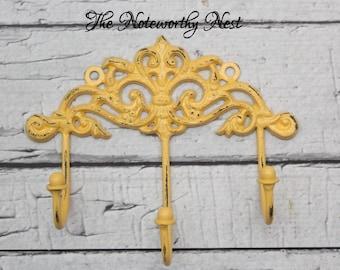 Wall hook // Pastel hook // Pink hook // yellow hook // lavender hook // blue hook hook // nursery decor // girls bedroom // headband holder