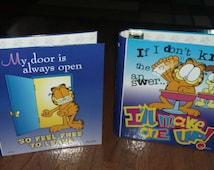 2 vintage Garfield Folders Binders New Mead