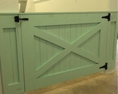 Rustic Dog/ Baby Gate Barn Door Style w/optional panels