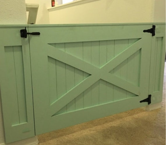 Rustic Dog Baby Gate Barn Door Style W Side Panels