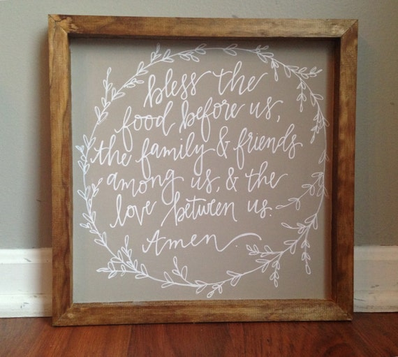 Kitchen Blessing Wall Decor: Home Decor Wood Sign// Kitchen & Dining Room Decor// Prayer Of