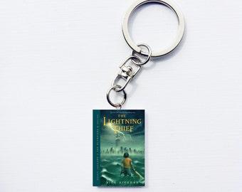 Percy Jackson the lightning thief mini book keychain