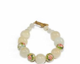 Fall bracelet Onyx healing bracelet onyx Yellow boho bracelet Gold gem everyday autumn minimal bracelet Office jewelry For aunt