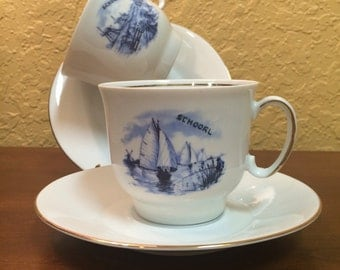 Bavaria Creidlitz Delft Blue Tea Cup and Saucer set