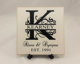 Personalized Gift for Couple, Gift Idea for Couple, Anniversary Gift, Vintage, Family Sign, B069