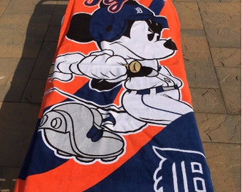Mickey Mouse MLB DETROIT Tigers Beach Towel Personalized Beach Towel