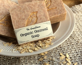 Organic Oatmeal Soap,a Soothing Soap for Sensitive Skin, Orange Citrus Scented