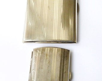 Two Vintage Silver Plated Cigarette Cases