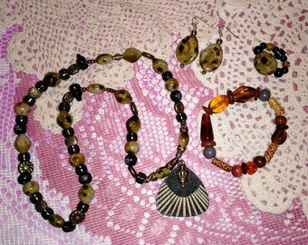 4 Pc. Beaded Jewelry Set
