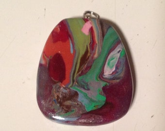 Colorful Oblong Pendant