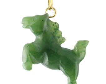 Canadian Nephrite Jade Charm, Horse