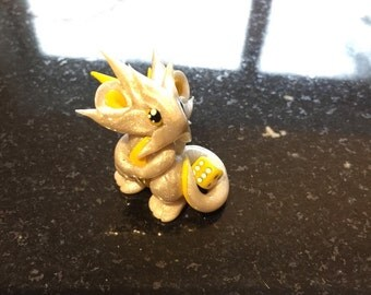Pearl Yellow Mini Dragon Guardian