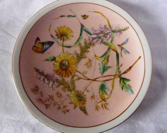 """Antique Royal Crown Derby 'Derby Crown' Aesthetic Period Plate 9 1/4"""" 1877-1890"""