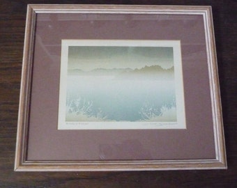 """Canadian Artists Peter and Traudl Markgraf Signed Serigraph Print 'Early Frost' 12 1/4"""" x 10 1/2"""""""