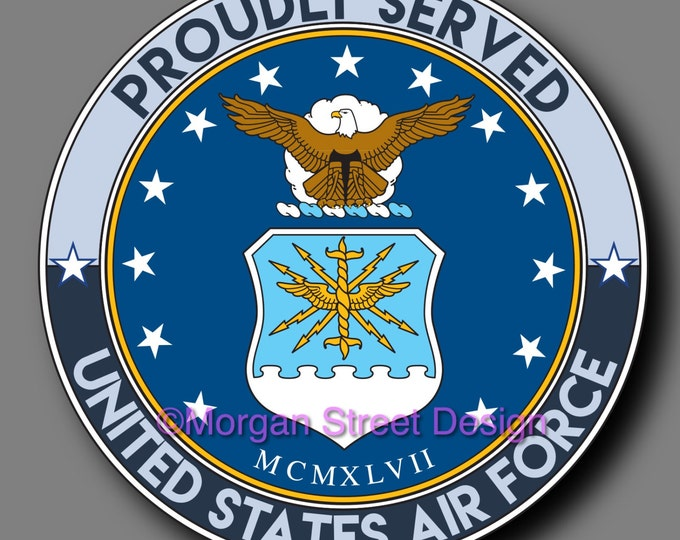 US Air Force Veteran Die Cut Vinyl Decal Sticker