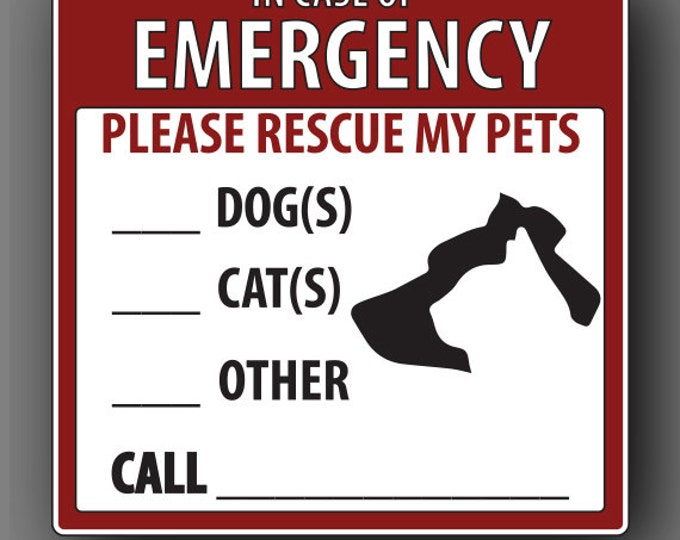 Rescue My Pets Decal Sticker