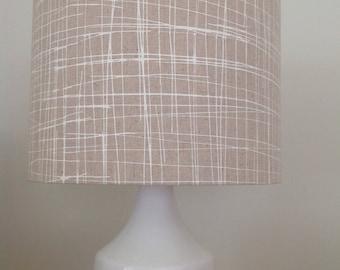 Drum Lamp shade in screen printed fabric