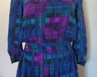 80's Dress by Morse Code Size 6