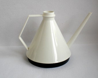 Vintage Watering Can, Black White, Made in Holland, Elho ,Plastic,Mid Century Modern, Vintage 1980's