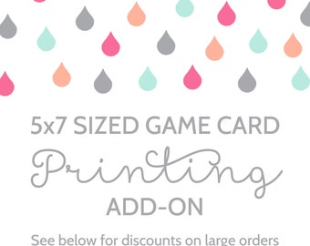 Printing Add-On for Any 5x7 Sized Game Card in the Shower That Baby Shop