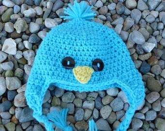 6-12 Months Baby Bird Hat--Turquoise
