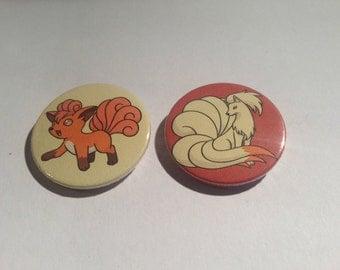 Vulpix and Ninetales Button Set