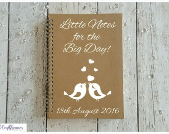 personalised gift wedding notebook stationery gift engagement gift wedding planner notepad spiral