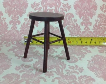 Dollhouse Miniature Furniture Kitchen/Home/Class Wood Chair Stool 1:6