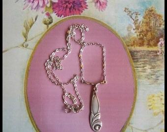 Handmade OOAK silver spoon necklace