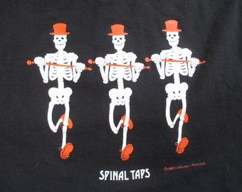 Rare 90s Spinal Taps Dancing Skeletons Graphic Vintage 1990s T-Shirt / Size Large