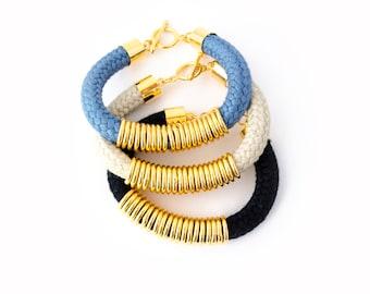 Rope Bracelet, Rope Bangle, Cord Bracelet, Fall Fashion, Bohemian Fashion, Friendship Bracelet, Bohemian Bracelet, Statement Bracelet