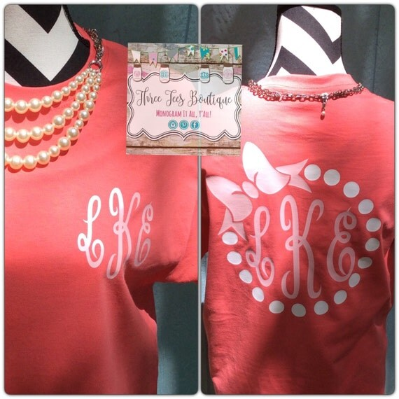 monogram pearl necklace with bow t