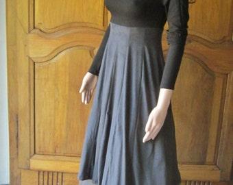 Dress woman black viscose, rainbow dress, unique(only) model