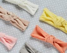 Tie Headband Toddler, Ivory headband, Shabby Chic Hair Accessories, Women Vintage style, Boho Wide Headband