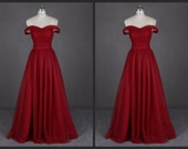 Tulle Sweetheart Evening Gown Long Elegant Off the Shoulder Open Back A Line Formal Prom Dresses 2015