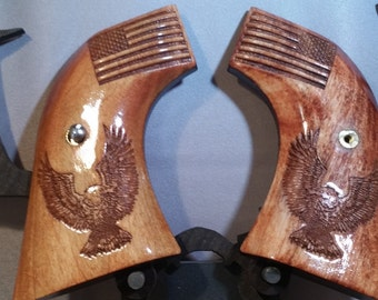 Ruger Vaquero Grips with Flag and Eagle engraving