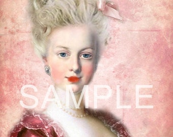 Fabric Art Quilt Block - Marie Antoinette - 12-1398 FREE Shipping