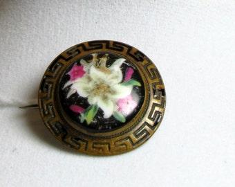 Victorian Porcelain Enamel Pin