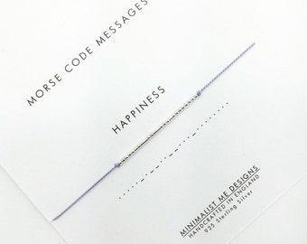 Morse Code 'happiness' bracelet