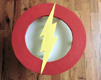 Handmade Flash End Table - DC Comics Flash Justice League Scarlet Speedster