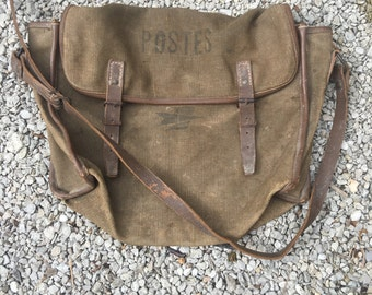 French post bag / messenger bag 1930s