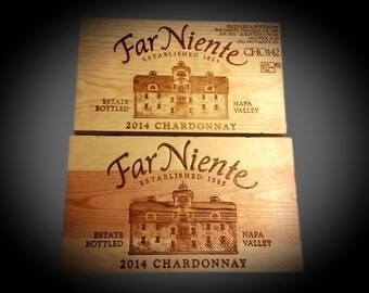Wine Crate Wood Panels Wall Decor, Far Niente Chardonnay, Cafe, Wine Bar Pub Decor, Home & Kitchen Decor, Wall Hanging, Wood Box End Panels.